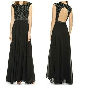 Parker Cannes Beaded Sequined Gown / Dress NWT